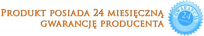 Produkt posiada 24 miesięczną gwarancję producenta