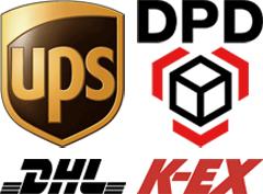 UPS, DPD, DHL, K-EX